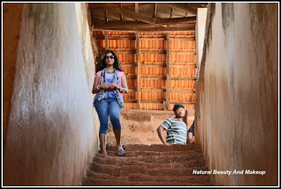 Down The Stairs...Aguada Fort. Things to do and see in candolim Goa