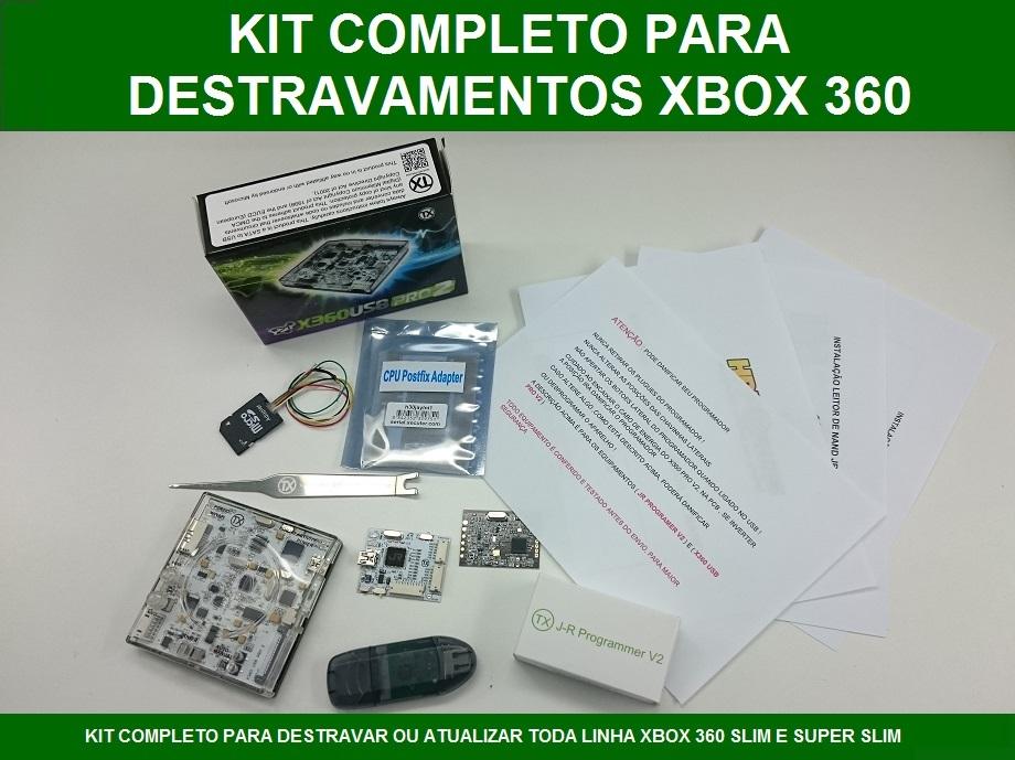 KIT OFICIAL COMPLETO PARA DESTRAVAR OU ATUALIZAR TODA LINHA DE XBOX 360  SLIM E SUPER SLIM 4b8a13cb3a6af