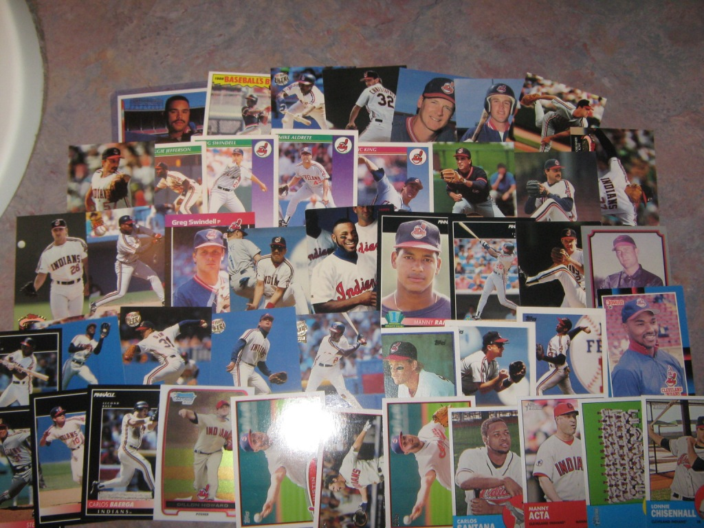 Indians Baseball Cards A Stack Of Cards From Backstopcards