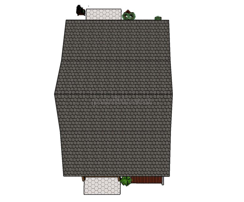 bentuk atap rumah kayu
