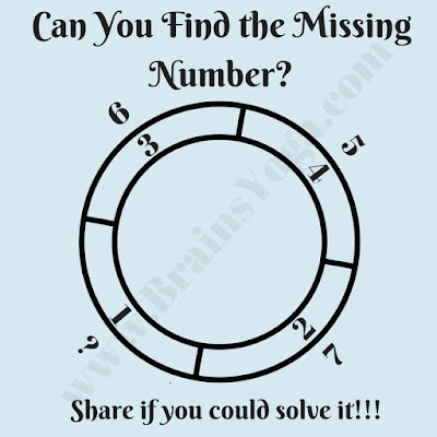 Missing Number Picture Puzzle