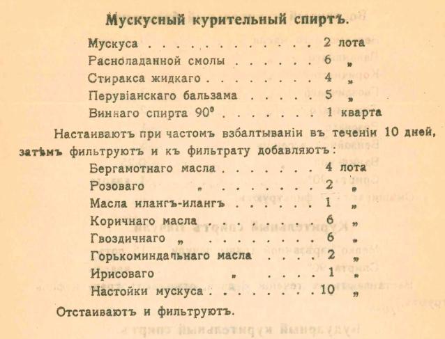 Рецепт ароматизатора
