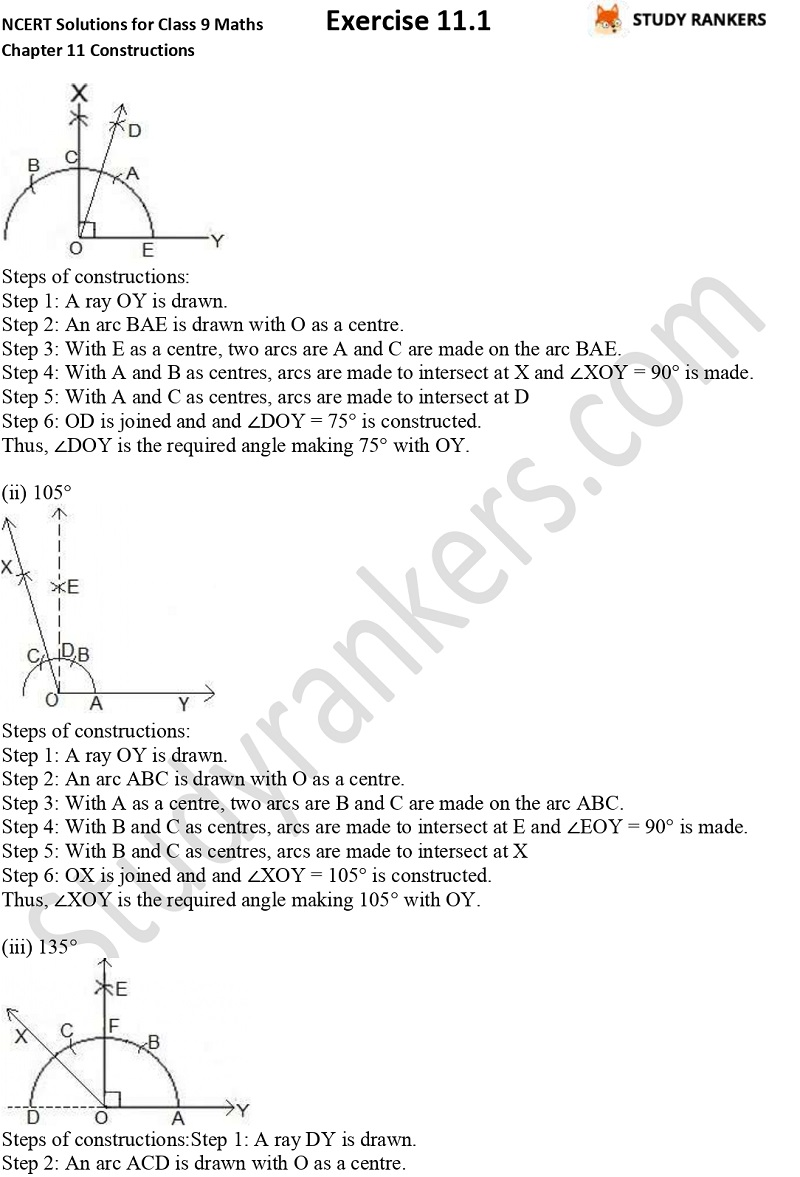 NCERT Solutions for Class 9 Maths Chapter 11 Constructions Exercise 11.1 Part 4