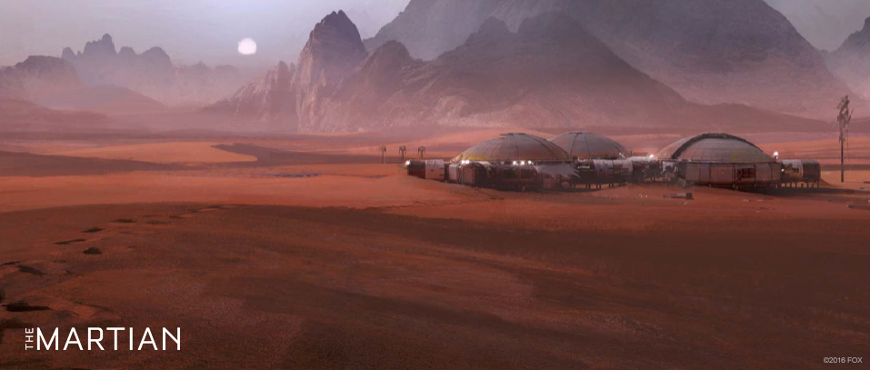 Concept art for The Martian - the base