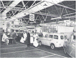 Cars undergoing- inspection and report by Standard Service Engineers.