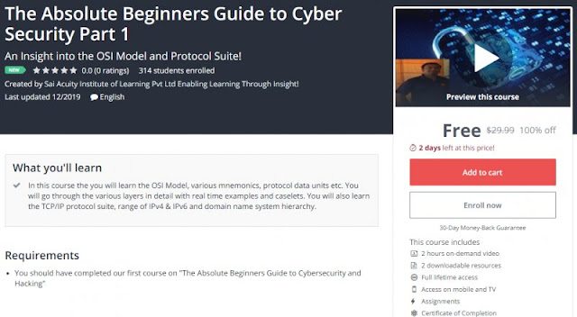 [100% Off] The Absolute Beginners Guide to Cyber Security Part 1| Worth 29,99$