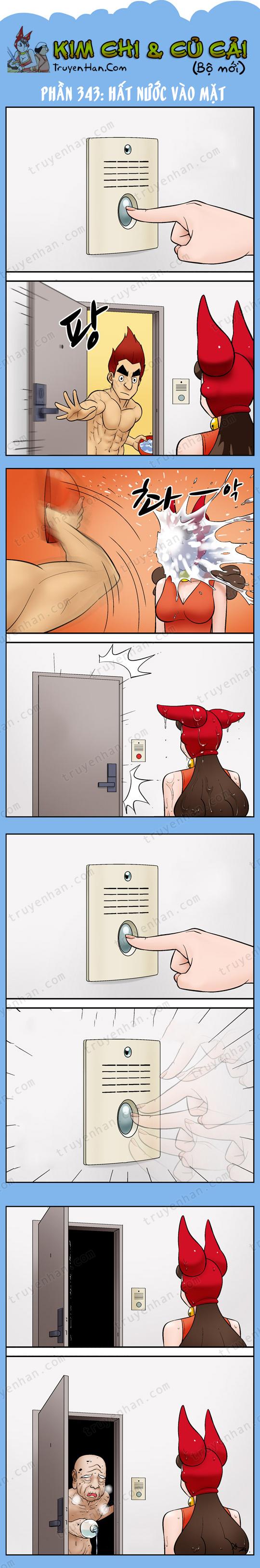 Kim Chi & Củ Cải (bộ mới) phần 343: Hất nước vào mặt