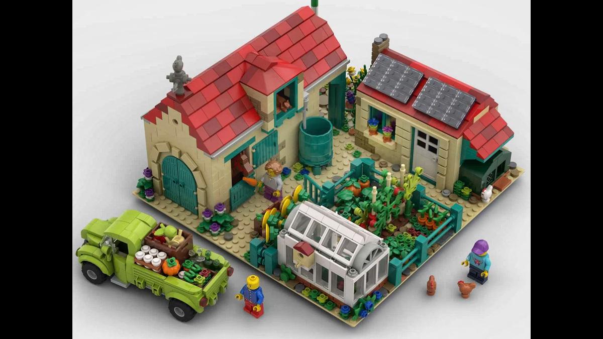 レゴアイデアで『にぎやかな農場』が製品化レビュー進出!2021年第1回1万サポート獲得デザイン紹介