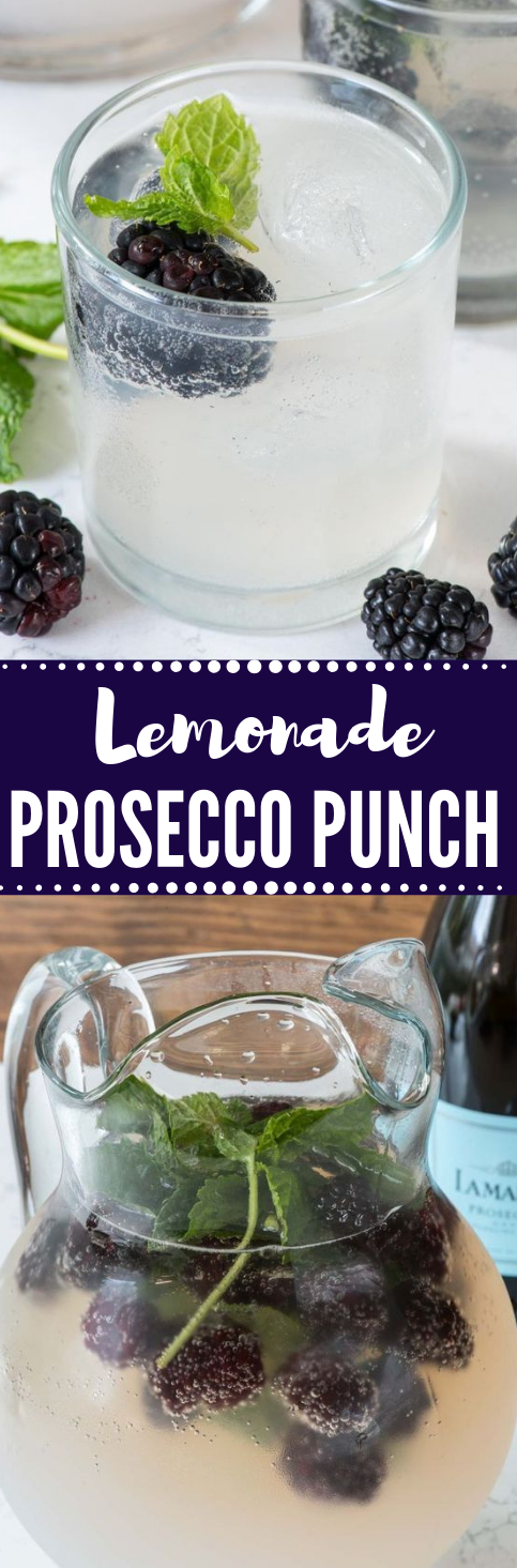 LEMONADE PROSECCO PUNCH #drink #lemonade #healthydrink #delicious #Fresh drinks