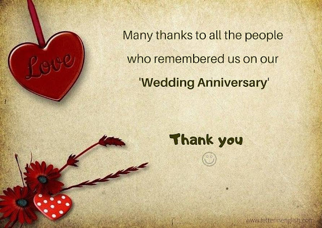 Thanks message for anniversary wishes