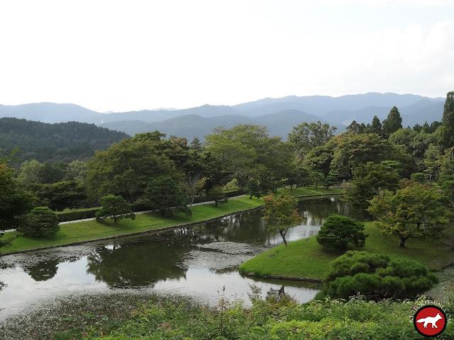 Lac de la villa du haut de Shugaku-in de Kyoto