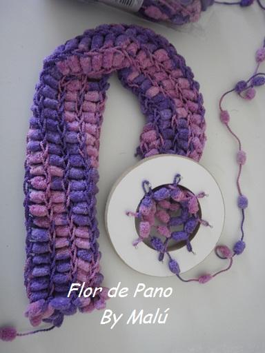 Flor de Pano Artes  Cachecol em tear circular 303430f07ef