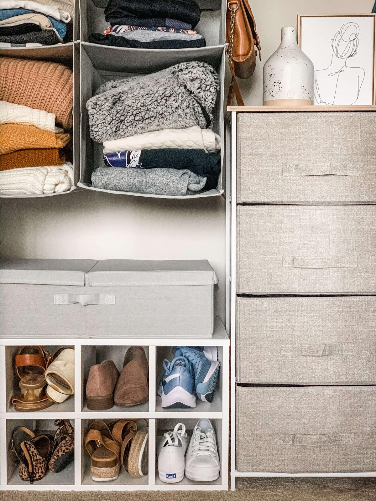 My organized bedroom closet
