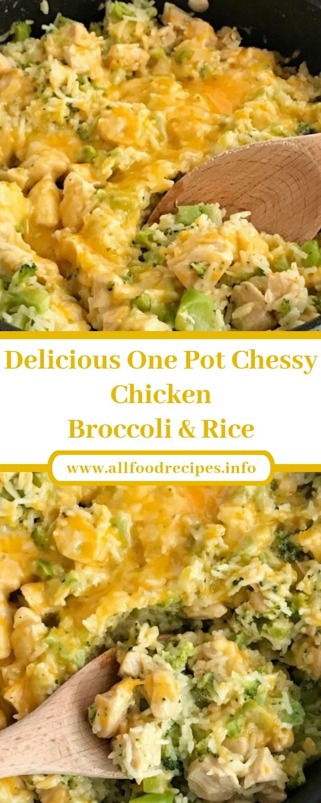 Delicious One Pot Chessy Chicken Broccoli & Rice
