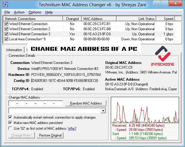How To Change MAC Address Of PC!
