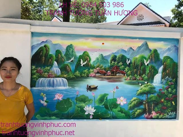 vẽ tranh 3d tại khu 3 thôn trung tt yên lạc2