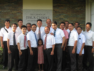 La Carlota LDS leaders and branch presidents