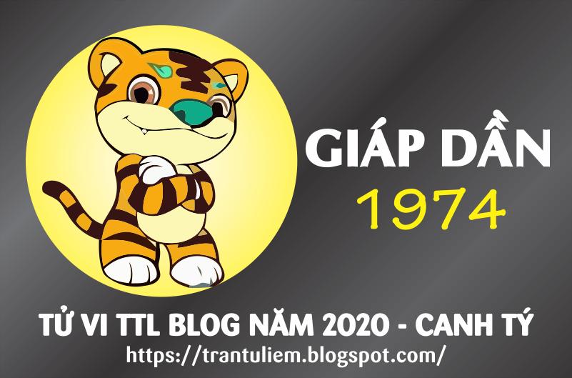 TỬ VI TUỔI GIÁP DầN 1974 NĂM 2020
