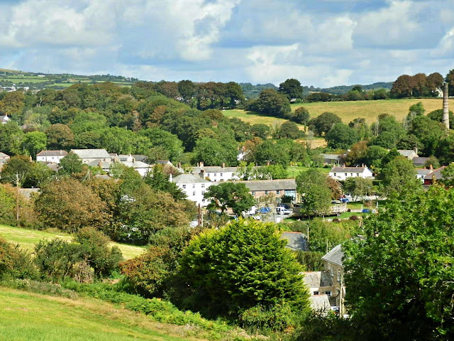Across the hills to Charlestown village, Cornwall