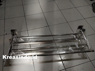 Gantungan Handuk dan Handrail Kamar Mandi Stainless pesanan Bpk Wely di Jakarta Barat