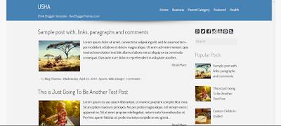 USHA Blogger Theme