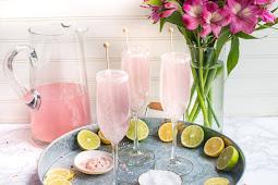 Pink Lemonade Champagne Margaritas #healthydrink #easyrecipe #cocktail #smoothie
