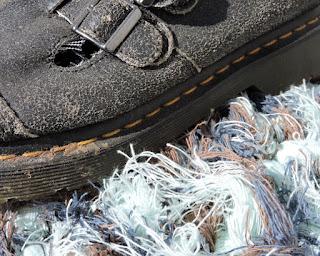 Pendleton selvage rug- detail