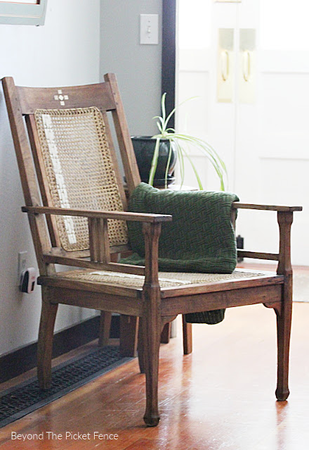 Thrifty Thursday Upcycled Antique  Boho Rattan Chair