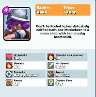 clash royale game musketeer card