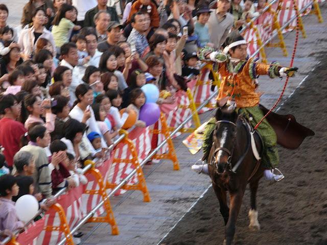 Kikusui Matsuri - Yabusame horses - at Futaarayama-jinja Shrine, Utsunomiya, Tochigi