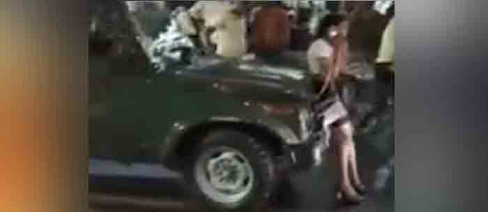 News, National, Crime, attack, Woman, Police, Complaint, Army Vehicle, Video, Model, Blocks Army Vehicle: Video