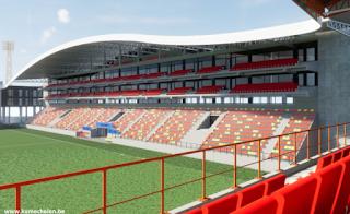 Vernieuwde hoofdtribune KV Mechelen
