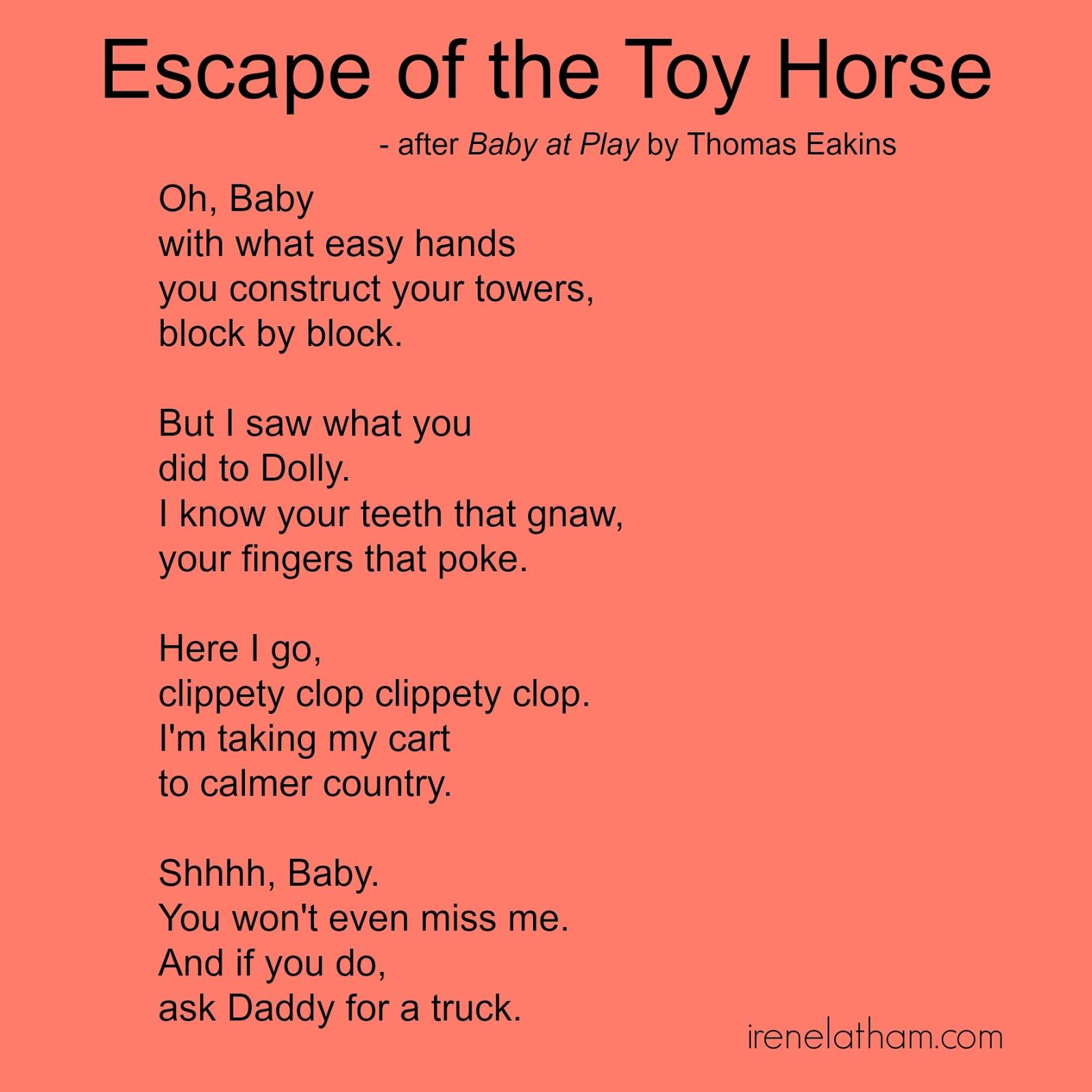 Live Laugh Love Art Live Your Poem Artspeak Poem 1 Quot Escape Of The Toy Horse Quot