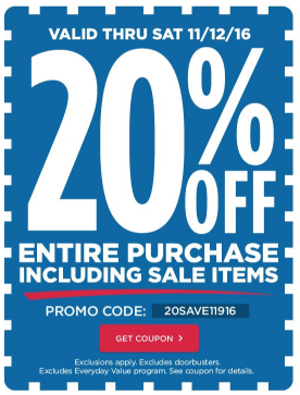 My vegas mommy 2016 11 06 michaels is having a veterans day sale with doorbusters and a coupon for 20 off your entire purchase including sale items you can use the coupon online fandeluxe Gallery