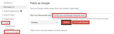 Submit Artikel di Webmaster Tools