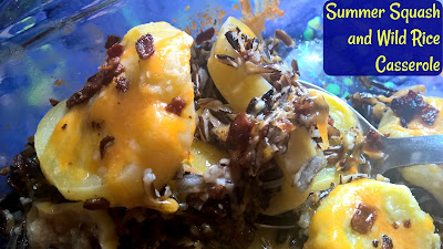 Summer squash, wild rice, bacon, and cheese join forces to make a tasty side dish.