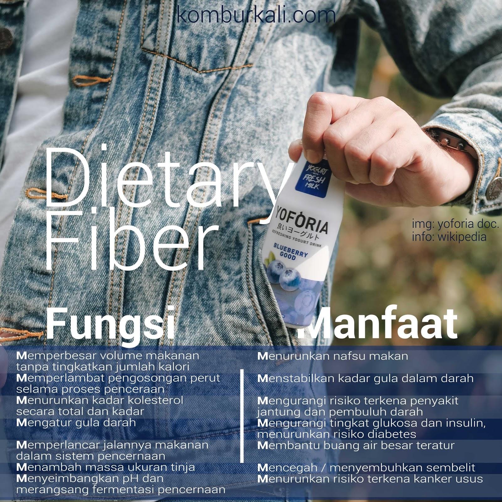 yoforia yogurt review, manfaat dietary fiber, manfaat yoforia yogurt