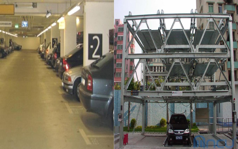 Hệ thống hầm nâng xe tự động hiện đại tại dự án Sky Park Residence Cầu Giấy