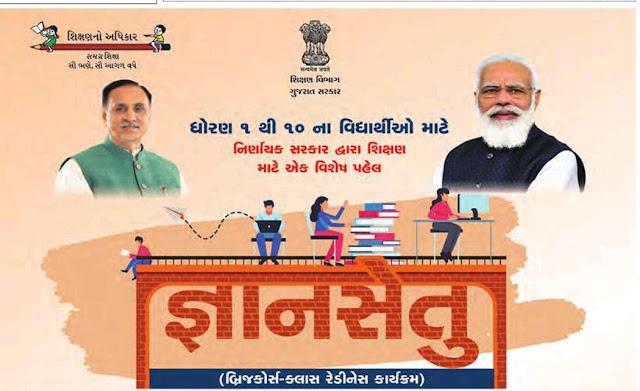 Gujarat e-Class Samagra Shiksha Bridge Course Class Readiness (Gyansetu Material) 2021