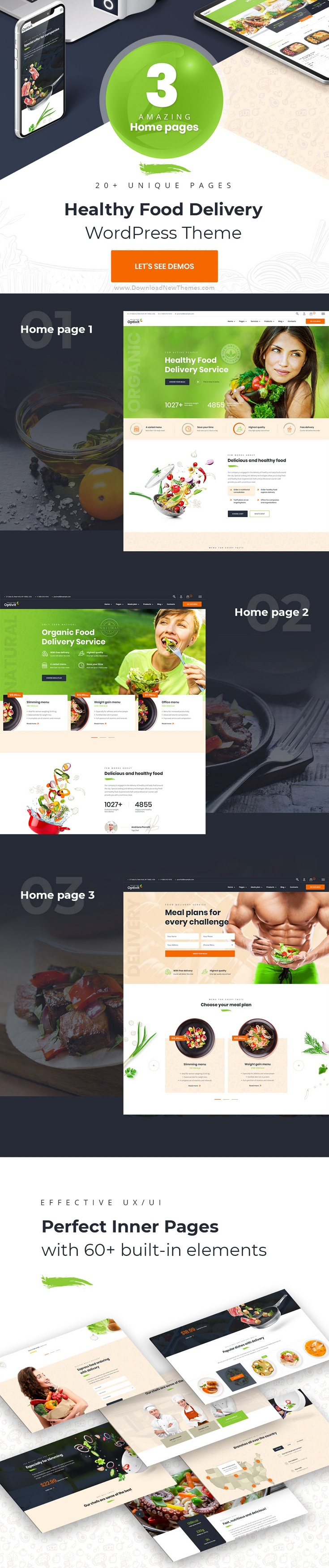 Healthy Food Delivery WordPress Theme