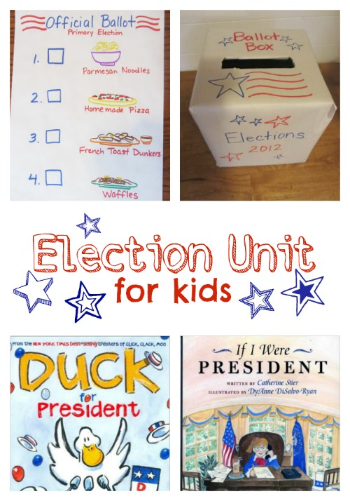 Election Unit for Kids with living literature books and activities