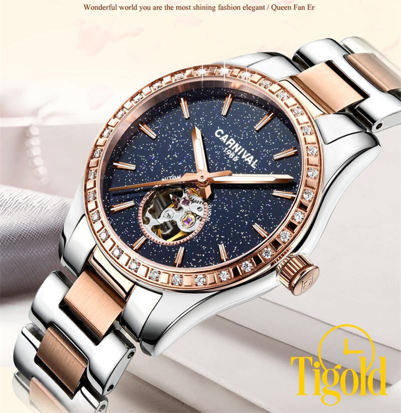 đồng hồ nữ carnival cao cấp