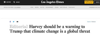 Global Warming and Hurricane Harvey