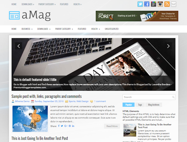 aMag Blogger Template