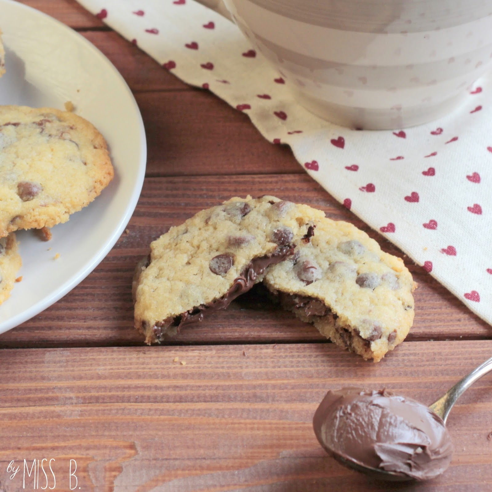 Miss Blueberrymuffin S Kitchen Chocolate Chip Cookies Mit Nutella