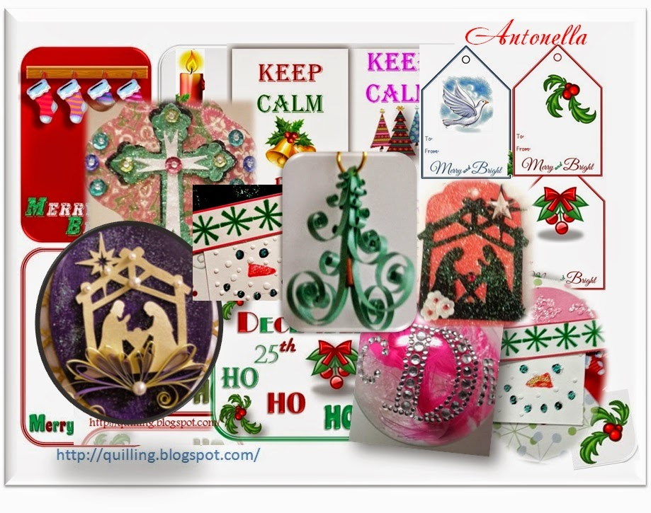 The 12 Days of Christmas Project Collection. A wonderful collection of DIY projects, gift cards, gift tags, quilling and more from Antonella at www.quilling.blogspot.com