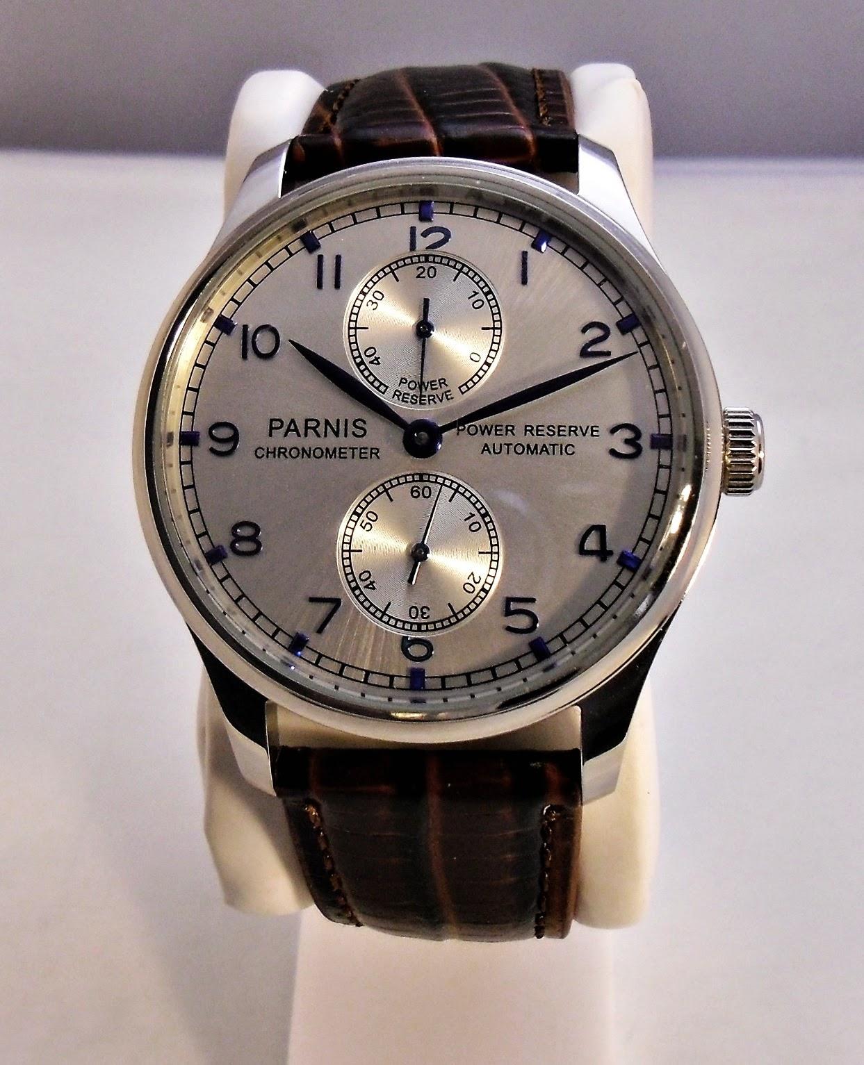 Parnis Portuguese Mens Wristwatch Hidden Excellence Asian