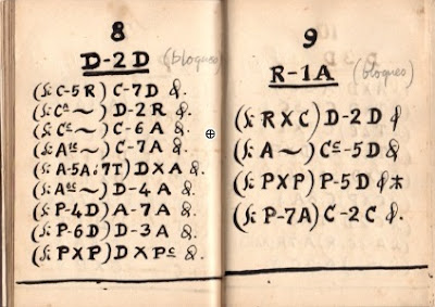 Solución a los problemas de ajedrez nº 8 y nº 9