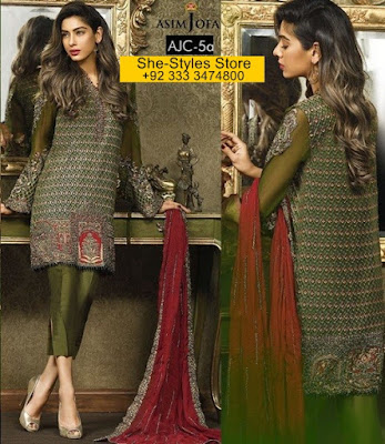 Asim Jofa Luxury Eid Dresses Collection For Women 2017
