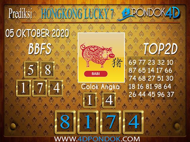 Prediksi Togel HONGKONG LUCKY 7 PONDOK4D 05 OKTOBER 2020